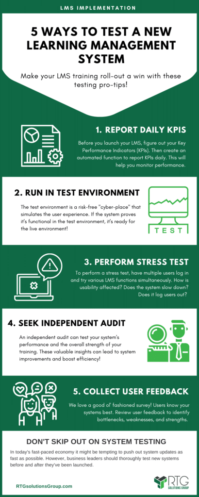 ways to test a learning management system