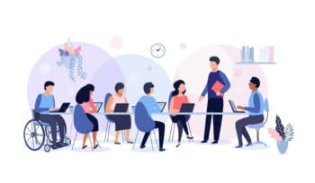 Diversity business meeting illustration