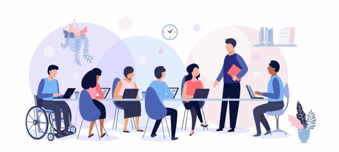 Diversity business meeting illustration