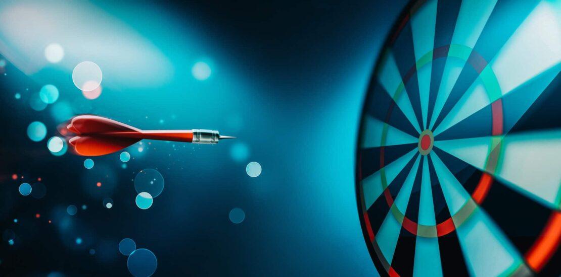 dartboard bullseye strategic goals